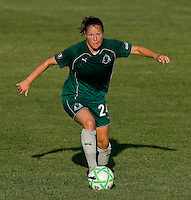 Saint Louis Athletica defender Kendall Fletcher (24) during a WPS match at Anheuser-Busch Soccer Park, in St. Louis, MO, July 26, 2009.  The match ended in a 1-1 tie.