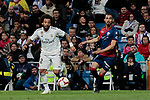 Real Madrid's Marcelo Vieira during La Liga match between Real Madrid and SD Huesca at Santiago Bernabeu Stadium in Madrid, Spain. March 31, 2019. (ALTERPHOTOS/A. Perez Meca)