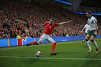 during the FIFA World Cup Qualifier Group D match between Wales and Republic of Ireland at The Cardiff City Stadium, Wales, UK. Monday 09 October 2017