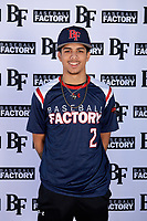 Savier Pinales (2) of Riverside University High School in Milwaukee, Wisconsin during the Baseball Factory All-America Pre-Season Tournament, powered by Under Armour, on January 12, 2018 at Sloan Park Complex in Mesa, Arizona.  (Mike Janes/Four Seam Images)