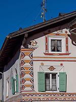 Hauptstraße in Santa Maria, Val Müstair-Münstertal, Engadin, Graubünden, Schweiz, Europa<br /> Mainstreet in Santa Maria, Val Müstair-Münster Valley, Engadine, Grisons, Switzerland