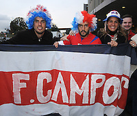 Costa Rica Fans.  The USMNT tied Costa Rica 2-2 on the final game of the 2010 FIFA World Cup Qualifying round at RFK Stadium, Wednesday October 14, 2009.