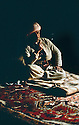 Iraq 1963 .Mustafa Barzani smoking under his tent in Kani Maran.Irak 1963.Mustafa Barzani fumant sous sa tente a Kani Maran