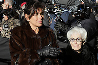 mireille deyglun and her mother Janine Sutto attend the funeral of Rene Angelil, , Friday Jan. 22, 2016 at Notre-Dame Basilica in Montreal, Canada.<br /> <br /> <br /> <br /> <br /> <br /> <br /> <br /> <br /> <br /> <br /> <br /> <br /> <br /> .