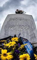 05.06.2013, Potocari ( Srebrenica ) Bosnia Herzegovina<br /> Memorial Center. <br /> Le oltre 7000 vittime identificate sono sepolte nel cimitero all'interno del Memorial center. <br /> L'esercito Serbo nel 1995 ha massacrato a Srebrenica circa 8.000 tra uomini e ragazzi Musulmani, la piu' grande atrocita' commessa in Europa dalla seconda guerra mondiale. <br /> Foto Insidefoto / EXPA/ Juergen Feichter