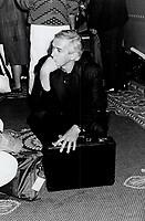 1989 FILE PHOTO - ARCHIVES -<br /> <br /> Unhappy camper. Jesus Of Montreal co-producer Roger Frappier looked partied out at Telefilm Canada's Monday do at the 4 Seasons.