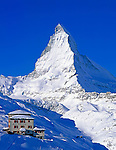 Switzerland, Valais, Zermatt, view from Riffelberg at Matterhorn Mountain (4.478 m)