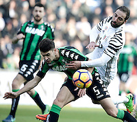 Calcio, Serie A: Sassuolo vs Juventus. Reggio Emilia, Mapei Stadium, 29 gennaio 2017. <br /> during the Italian Serie A football match between Sassuolo and Juventus at Reggio Emilia's Mapei stadium, 29 January 2017.<br /> UPDATE IMAGES PRESS/Isabella Bonotto