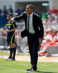 Atletico de Madrid's coach Diego Pablo Cholo Simeone during La Liga match.April 1,2012. (ALTERPHOTOS/Acero)