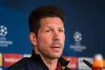 Diego Pablo Cholo Simeone coach of Atletico de Madrid during the press conference before the match of Champions League between Real Madrid and Atletico de Madrid at Santiago Bernabeu Stadium  in Madrid, Spain. May 01, 2017. (ALTERPHOTOS/Rodrigo Jimenez)