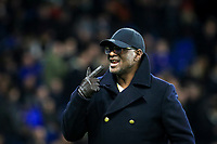 Chelsea's first black player Paul Canoville who made his debut for the club in 1982 does a lap of the pitch to applauding supporters at Half Time during the Premier League match between Chelsea and Swansea City at Stamford Bridge, London, England on 29 November 2017. Photo by Andy Rowland