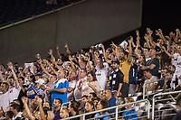 Orlando, FL - Saturday July 22, 2017: Tottenham Hotspur fans celebrate a goal during the International Champions Cup (ICC) match between the Tottenham Hotspurs and Paris Saint-Germain F.C. (PSG) at Camping World Stadium.