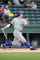 Outfielder Alex Hudak (8) of the Lexington Legends in a game against the Greenville Drive on Sunday, August 18, 2013, at Fluor Field at the West End in Greenville, South Carolina. Greenville won Game 2 of a doubleheader, 1-0. (Tom Priddy/Four Seam Images)