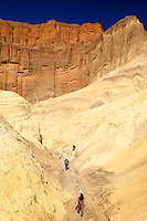 Hikers in Golden Canyon Trail, Death Valley National Park, California