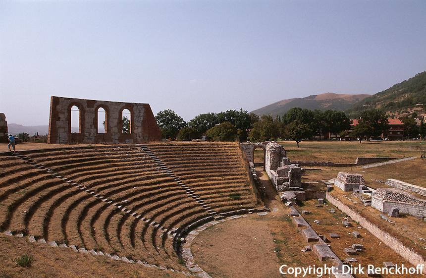 Italien, Umbrien, römisches Theater in Gubbio, 1.Jh. n.Chr.