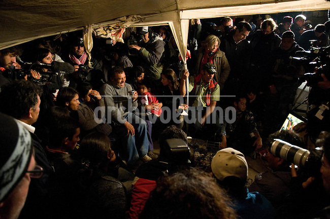 relatives of florencio avalos waiting for the first men rescued Relatives of the trapped miners react to their final rescue in San Jose mine, north of Chile