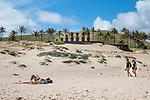 Ahu Nau Nau & Beachgoers