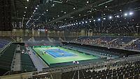 Switserland, Genève, September 16, 2015, Tennis,   Davis Cup, Switserland-Netherlands, Practise Dutch team, <br /> Photo: Tennisimages/Henk Koster