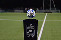 Match ball pictured before a female soccer game between  Racing Genk Ladies and Royal Sporting Club Anderlecht , a delayed game from the 1st  matchday of the 2021-2022 season of the Belgian Scooore Womens Super League , tuesday 28 September 2021  in Genk , Belgium . PHOTO SPORTPIX | JILL DELSAUX