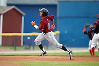 Mahoning Valley Scrappers second baseman Mark Mathias (29) running the bases during a game against the Batavia Muckdogs on June 22, 2015 at Dwyer Stadium in Batavia, New York.  Mahoning Valley defeated Batavia 15-11.  (Mike Janes/Four Seam Images)