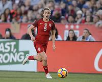 San Diego, Ca - Sunday, January 21, 2018: Kelley O'Hara during a USWNT 5-1 victory over Denmark at SDCCU Stadium.