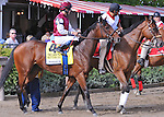 Better Lucky (no. 4), ridden by Eddie Castro and trained by Thomas Albertrani, runs in the the 29th running of the grade 2 Lake Placid Stakes for three year old fillies on August 19, 2012 at Saratoga Race Track in Saratoga Springs, New York.  (Bob Mayberger/Eclipse Sportswire)