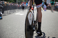 Formula 1?<br /> Nope: just Trek Factory Racing having a warning light attached to every TT bike...<br /> or was that a brake light? or a cadence indicator?<br /> <br /> stage 1 prologue: Utrecht (13.8km)<br /> Tour de France 2015
