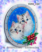 Kayomi, CHRISTMAS ANIMALS, paintings, OurFirstChristmas_M, USKH109,#XA# Weihnachten, Navidad, illustrations, pinturas