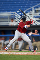Mahoning Valley Scrappers catcher Logan Ice (11) at bat during the first game of a doubleheader against the Batavia Muckdogs on August 17, 2016 at Dwyer Stadium in Batavia, New York.  Mahoning Valley defeated Batavia 10-3.  (Mike Janes/Four Seam Images)