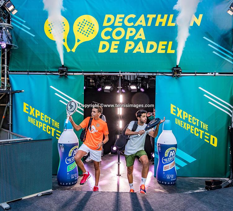 Utrecht, The Netherlands,  September 5, 2021,  Jaarbeurs, Decathlon Copa de Padel,  Alvaro Lopez  Luque (ESP) and A. Delgado Sanchez (ESP)<br /> Photo: Tennisimages/Henk Koster