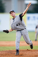 Lake County starting pitcher Ryan Morris (43) fires the ball to the plate versus Kannapolis at Fieldcrest Cannon Stadium in Kannapolis, NC, Saturday, August 11, 2007.