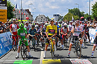 1st July 2021; Chateauroux, France; CAVENDISH Mark (GBR) of DECEUNINCK - QUICK-STEP, VAN DER POEL Mathieu (NED) of ALPECIN-FENIX and SCHELLING Ide (NED) of BORA - HANSGROHE during stage 6 of the 108th edition of the 2021 Tour de France cycling race