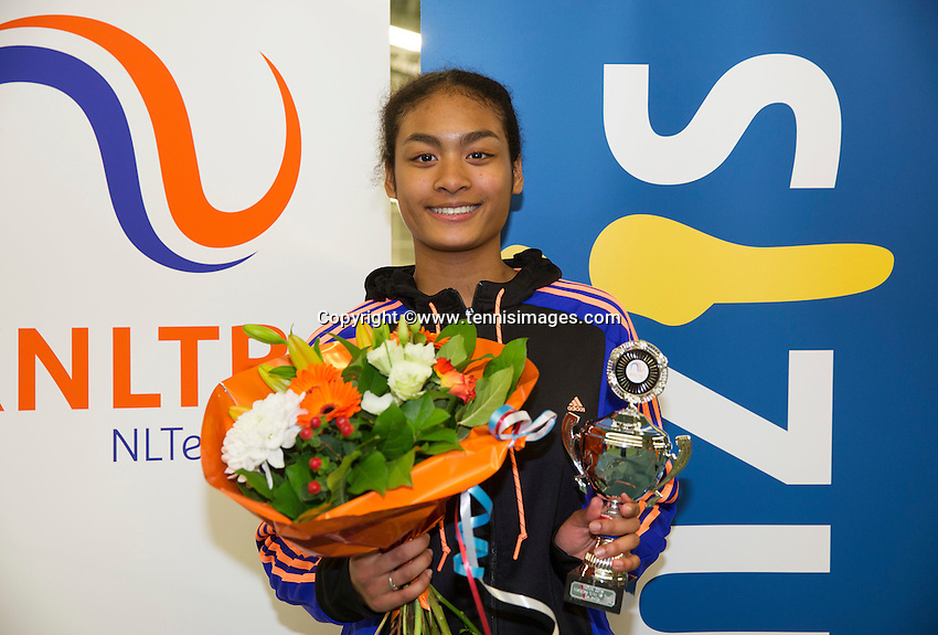 Rotterdam, The Netherlands, March 20, 2016,  TV Victoria, NOJK 14/18 years, Runner up girls 18 years:  Dainah Cameron (NED)<br /> Photo: Tennisimages/Henk Koster