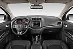 Stock photo of straight dashboard view of 2020 Dodge Journey Crossroad 5 Door SUV Dashboard