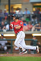 Billings Mustangs Victor Ruiz (26) at bat during a Pioneer League game against the Grand Junction Rockies at Dehler Park on August 14, 2019 in Billings, Montana. Grand Junction defeated Billings 8-5. (Zachary Lucy/Four Seam Images)