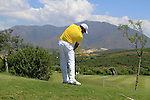 Jhonattan Vegas (VEN) plays after taking a drop on the 18th hole during the morning session on Day 3 of the Volvo World Match Play Championship in Finca Cortesin, Casares, Spain, 21st May 2011. (Photo Eoin Clarke/Golffile 2011)