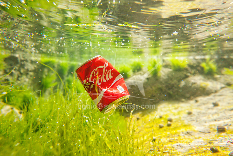 Trash floating on the Brittany shore line,Le Courégant, France.<br /> Water pollution is largely caused by human activity and has had a major impact on our local waterways and their ability to be healthy and function naturally. Water pollution, by the release of waste products and contaminants into surface runoff into river drainage systems, leaching into groundwater, liquid spills, wastewater discharges, eutrophication and littering.<br /> Pollution is the introduction of contaminants into an environment that causes instability, disorder, harm or discomfort to the ecosystem i.e. physical systems or living organisms. Pollution can take the form of chemical substances, or energy, such as noise, heat, or light. Pollutants, the elements of pollution, can be foreign substances or energies, or naturally occurring; when naturally occurring, they are considered contaminants when they exceed natural levels. Pollution is often classed as point source or nonpoint source pollution.