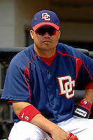 14 March 2006: Jose Vidro, second baseman for the Washington Nationals, awaits the start of a Spring Training game against the Florida Marlins. The Marlins defeated the Nationals 2-1 at Space Coast Stadium, in Viera, Florida...Mandatory Photo Credit: Ed Wolfstein..