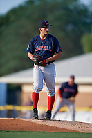 Lowell Spinners pitcher Aldo Ramirez (22) during a NY-Penn League game against the Batavia Muckdogs on July 10, 2019 at Dwyer Stadium in Batavia, New York.  Batavia defeated Lowell 8-6.  (Mike Janes/Four Seam Images)
