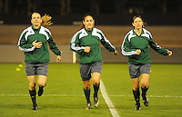 Belgium - Sweden : Referee..Efthalia Mitsi (GRE).Assistant referees..Urania Foskolou (GRE), Chrysoula Kourompylia (GRE).foto DAVID CATRY / Vrouwenteam.be
