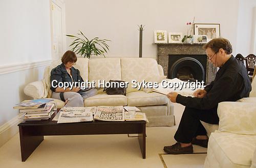 Jake Jacob Sutton artist drawing Tessa Jowell MP in her cabinet office Whitehall. London 2007 UK.