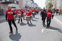 """Ca. 1000 Nazis aus ganz Deutschland marschierten am Sonntag den 1. Mai 2016 im Saeschsichen Plauen auf. Die Naziorganisation 3.Weg hatte den Marsch angemeldet. Etliche Nazis waren dabei vermummt und zeigten auch den Hitlergruss, die Polizei schritt jedoch nicht ein.<br /> Nach der Haelfte der Marschroute beendeten die Nazis ihre Demonstration, da die Polizei die Marschroute verkuerzen wollte. Sie forderten die Polizei auf den Weg freizugeben. Danach griffen Aufmarschteilnehmer die Polizei an, die daraufhin Wasserwerfer, Pfefferspray, Traenengas und Schlagstoecke einsetzte. Mehrere Gruppen Nazis zogen danach durch Plauen und jagten Menschen.<br /> Nach einer Stunde bekamen die Nazis einen erneuten Aufmarsch von der Polizei genehmigt und zogen zurueck zum Bahnhof.<br /> Im Bild vorne links: Klaus Armstroff, Gruender und Vorsitzender der Partei """"3. Weg"""".<br /> Rechts im Bild: David Linke aus Berlin, ehem. """"Nationaler Widerstand Berlin"""", NW-Berlin.<br /> 1.5.2016, Plauen<br /> Copyright: Christian-Ditsch.de<br /> [Inhaltsveraendernde Manipulation des Fotos nur nach ausdruecklicher Genehmigung des Fotografen. Vereinbarungen ueber Abtretung von Persoenlichkeitsrechten/Model Release der abgebildeten Person/Personen liegen nicht vor. NO MODEL RELEASE! Nur fuer Redaktionelle Zwecke. Don't publish without copyright Christian-Ditsch.de, Veroeffentlichung nur mit Fotografennennung, sowie gegen Honorar, MwSt. und Beleg. Konto: I N G - D i B a, IBAN DE58500105175400192269, BIC INGDDEFFXXX, Kontakt: post@christian-ditsch.de<br /> Bei der Bearbeitung der Dateiinformationen darf die Urheberkennzeichnung in den EXIF- und  IPTC-Daten nicht entfernt werden, diese sind in digitalen Medien nach §95c UrhG rechtlich geschuetzt. Der Urhebervermerk wird gemaess §13 UrhG verlangt.]"""