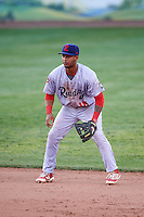 Reading Fightin Phils second baseman Angelo Mora (18) during a game against the Portland Sea Dogs on May 31, 2016 at Hadlock Field in Portland, Maine.  Reading defeated Portland 6-4.  (Mike Janes/Four Seam Images)
