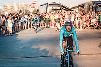 Alejandro Valverde (ESP/Movistar) at the stage start in Torrevieja <br /> <br /> Stage 1 (TTT): Salinas de Torrevieja to Torrevieja (13.4km)<br /> La Vuelta 2019<br /> <br /> ©kramon