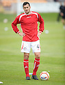Ian Murray warms up as a trialist for Brechin, on loan from Hibernian ...