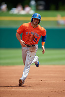 Syracuse Mets Danny Espinosa (18) running the bases during an International League game against the Indianapolis Indians on July 17, 2019 at Victory Field in Indianapolis, Indiana.  Syracuse defeated Indianapolis 15-5  (Mike Janes/Four Seam Images)