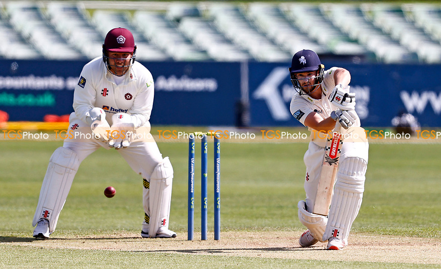 Ollie Robertson bats for Kent during Kent CCC vs Northamptonshire CCC, LV Insurance County Championship Group 3 Cricket at The Spitfire Ground on 5th June 2021
