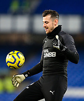 Newcastle United's Martin Dubravka warms up<br /> <br /> Photographer Alex Dodd/CameraSport<br /> <br /> The Premier League - Everton v Newcastle United  - Tuesday 21st January 2020 - Goodison Park - Liverpool<br /> <br /> World Copyright © 2020 CameraSport. All rights reserved. 43 Linden Ave. Countesthorpe. Leicester. England. LE8 5PG - Tel: +44 (0) 116 277 4147 - admin@camerasport.com - www.camerasport.com