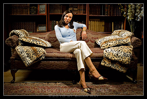 Heather McMahan, daughter of hedge-fund operator Bruce McMahan, is pictured in her home in Austin, Texas on Friday evening September 29, 2006.  Currently embattled in a family dispute with her father and step-sister Linda McMahan, Heather alleges that Linda has spread several lies about relationships within the family, and has tried to extort millions of dollars from their father. (Brian Ray for the New York Post)