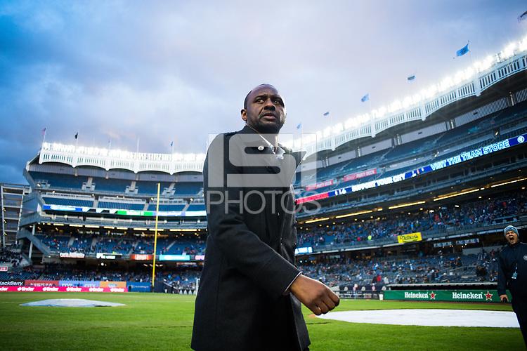 BRONX, New York - Saturday, April 29, 2018: New York City FC takes on FC Dallas at home at Yankee Stadium during the 2018 MLS regular season.
